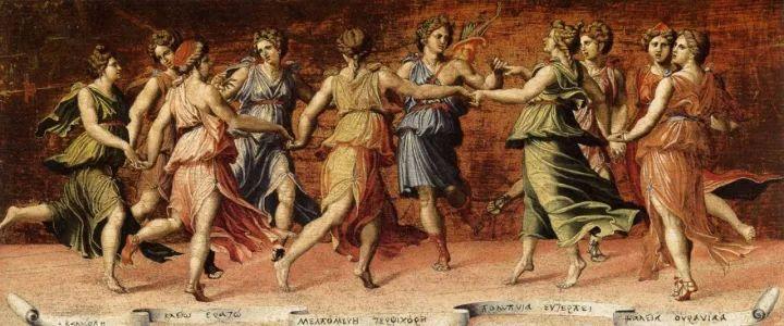 图片资料|九位缪斯女神与阿波罗